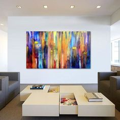 """The Emotional Creation #82, XL, 155 x 90 cm - 61 x 36 in"" by Carla Sá Fernandes. Acrylic painting on Canvas, Subject: Abstract and non-figurative, Abstract style, One of a kind artwork, Signed on the back, Size: 155 x 90 x 4 cm (unframed), 61.02 x 35.43 x 1.57 in (unframed), Materials: Acrylic"