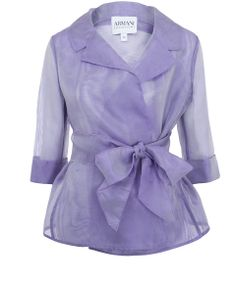 Lilac organza silk tie jacket from the Armani Collezioni collection. Lightweight and feminine, this jacket is a beautifully versatile spring cover-up. Silk Organza, Chiffon, Posh Clothing, Silk Jacket, Blazer Jacket, Dresscode, Coat Dress, Mantel, Fashion Dresses