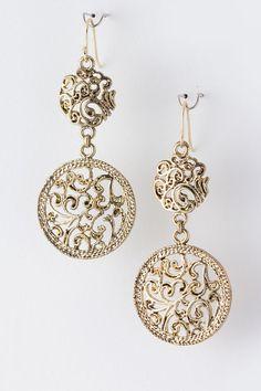 Amelia Filigree Earrings on Emma Stine Limited