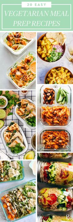 20 Vegetarian Meal-Prep Recipes to Make Once and Eat All Week #purewow #dinner #food #easy #lunch #cooking #vegetable #recipe