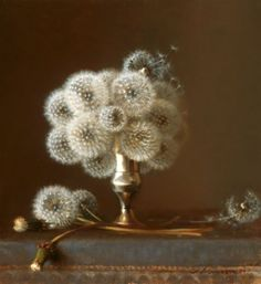 Ha, I never would have thought of making the last stage of dandelion flowers look so upscale!