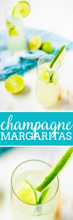 Champagne Margaritas - This champagne cocktail recipe can be enjoyed all year long with a perfect blend of sweet and sour! As a bubbly drink, this sparkling margarita is especially tasty for a New Year's Eve toast! | The Love Nerds #champagnedrink #newyearsevecocktail #margaritarecipe via @lovenerdmaggie