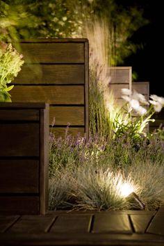 Heben Sie Ihre schönsten Pflanzen perfekt hervor, indem Sie sie mit kleinen Licht-Spots von unten anstrahlen!