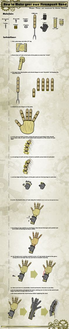 Steampunk Hand in Walkthrough by aternox.deviantart.com on @deviantART. It will be useful for the Hulk project.