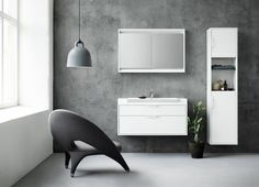 DK - A new collection created in collaboration with Danish designers Morten Voss and Stinne Knudsen. Stockholm Design, Bathroom Vanity Cabinets, Bathroom Inspiration, Bathroom Ideas, Vanity Units, Clean Design, Scandinavian Design, Floating Shelves, Wall Lights