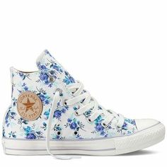 Incorporating flowers into your shoes doesn't mean you have to part with your favorite style. Lace up your Chucks, hike up your wedding dress and hit the dance floor in these custom flower printed Converse sneakers. The best part about these kicks is that you can create them to match your unique bridal style and wedding colors!