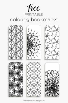 Color your own bookmarks – FREE printable bookmarks for coloring. Just download … Wallpaper