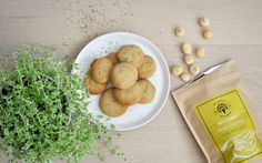 Lemon & Thyme Macadamia Biscuit Recipe.  Dairy Free Gluten Free & Egg Free Immune Boosting