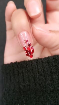 14 Sweet Valentine's Day Nail Design for You 2020 <br> Valentine's Day approaching, you can surprise your lover by choosing your favorite sweet nail design. Valentine's Day nail designs are a perfect way t Valentine's Day Nail Designs, Nail Art Designs Videos, Nail Art Videos, Nails Design, Polygel Nails, Diy Nails, Cute Nails, Coffin Nails, Diy Acrylic Nails