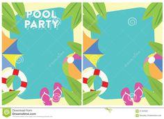 Invitación Del Partido Del Verano De La Fiesta En La Piscina Stock de…