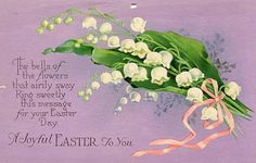 Easter  Postcard  Lilies of the valley by sharonfostervintage, $2.00