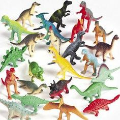 Amazon.com: Vinyl Mini Dinosaurs (72 count): Toys & Games --> favors or something for a piñata