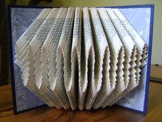 Folded book art waves I recycled book art by DancingGreyStudio, $47.00