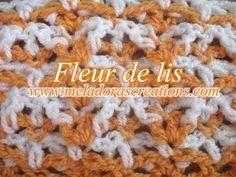 Fleur de lis stitch - crochet