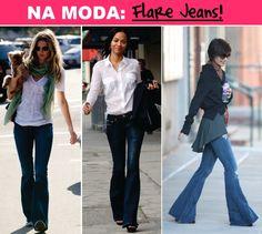 Moda: Calça Flare Jeans Boca de Sino Anos 70 – Inverno 2011