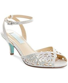 Blue by Betsey Johnson Raven Evening Sandals - Silver 5M