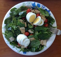 Second experimental spinach salad