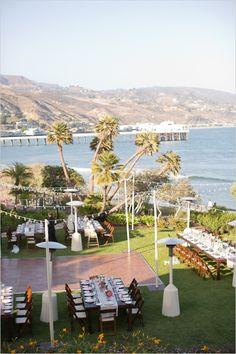 wedding reception ideas #adamsonhouse #malibuwedding #weddingchicks http://www.weddingchicks.com/2014/01/06/coast-to-coast-wedding/