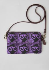 VIDA Leather Statement Clutch - damask lilac by VIDA HDWJCG