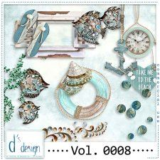 Vol. 0008 - Beach Mix  by Doudou's Design  cudigitals.com cu commercial scrap scrapbook digital graphics#digitalscrapbooking #photoshop #digiscrap
