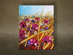 Ručne maľovaný obraz 1 dielny KVETY BI0049E1