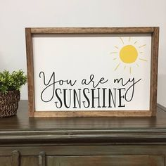 You Are My Sunshine Framed Wood Sign, Colorful Kids Decor, Sweet Kids Room Art, Song Lyrics Sign, Custom Color Gallery Wall Hanging home decor crafts Diy Home Decor Rustic, Home Decor Signs, Handmade Home Decor, Farmhouse Decor, Farmhouse Signs, Handmade Signs, Modern Farmhouse, Rustic Wood Crafts, Modern Country