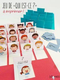 """Practicing vocabulary for describing people in French. Voici la version papier du jeu de """"Qui est-ce ?"""" ! Beaucoup plus mignon et tout aussi rigolo, fabriquez vous-même votre """"Qui-est-ce ?"""" avec Momes !"""