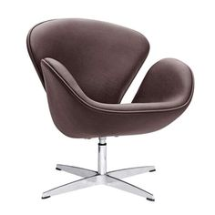 caac13aae Fine Mod Imports Swan Chair Leather FMI1144