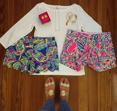 Lilly Buttercup shorts and the Callahan shorts