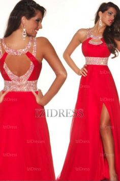 Prom Dresses 2014 New Arrival Prom Dresses A Line Scoop Sweep Brush Chiffon Red Evening Dresses With Slit , You will find many long prom dresses and gowns from the top formal dress designers and all the dresses are custom made with high quality Ball Gowns Prom, Pageant Dresses, Ball Dresses, Homecoming Dresses, Bridesmaid Dresses, Dresses 2013, Wedding Dresses, Mini Dresses, Bridal Gowns