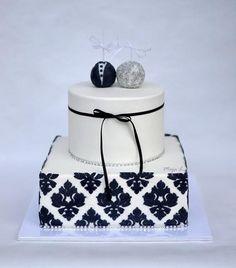Black & White wedding cake - Cake by majalaska