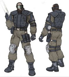 F.E.A.R. replica soldier concept art by david longo From: https://www.flickr.com/photos/greyisthecolor/1460293295/in/album-72157604379068467