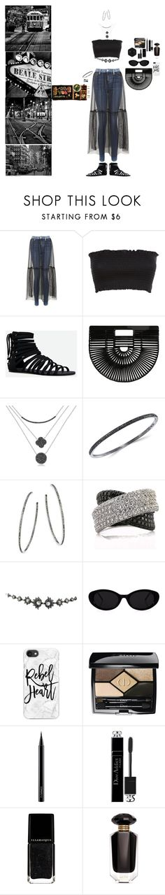 """""""Sushi Street"""" by blackmagicmomma ❤ liked on Polyvore featuring Topshop, JustFab, Cult Gaia, Gab+Cos Designs, Effy Jewelry, Nina Gilin, Mark Broumand, Lanvin, Casetify and Christian Dior"""