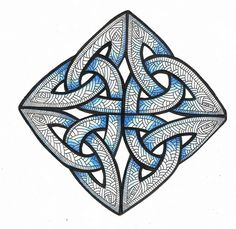 Celtic Knot Doodle -could be used to enforce the idea of overlapping