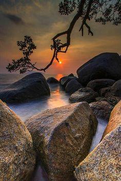 sunrise -sunset view of nature Foto Nature, Image Nature, Beautiful Sunset, Beautiful World, Beautiful Places, Nature Pictures, Cool Pictures, Beautiful Pictures, Pictures Images