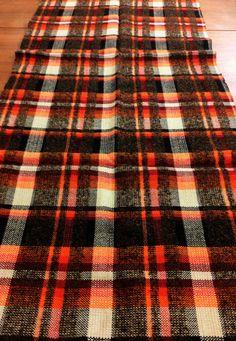 1960s plaid wool fabric mid century mod fashion fabric