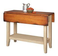 Primitive Kitchen Island Table Small Drop Side Farmhouse Country Farm Furniture