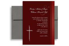 Baptist Religious Verses Wedding Invitation Ideas 5x7 in. Vertical