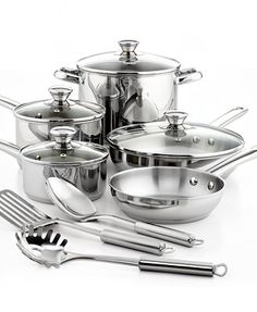 tis the season for cooking...Tools of the Trade Stainless Steel 12 Piece Cookware Set....$69 at Macy's!