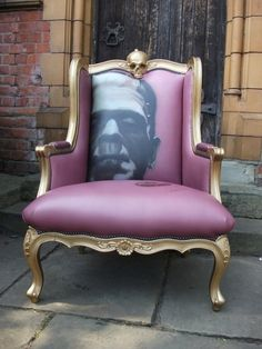 Love this frankenstein chair. Chair love going on here. Horror Decor, Gothic House, Funky Furniture, Antique Furniture, Furniture Decor, Furniture Design, Take A Seat, Upholstered Chairs, Chair Upholstery