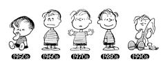 Linus through the years! #Peanuts #History