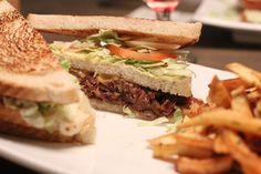 Club confit – Club Sandwich av confitert and