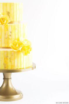 Golden Yellow and Saffron Cake, AK Cake Design Saffron Cake, Baby Shower Yellow, Best Cake Recipes, Wedding Cake Inspiration, Shades Of Yellow, Golden Yellow, Baby Shower Cakes, Charcoal Gray, Vanilla Cake