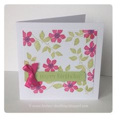 Stampin Up Summer Silhouette-beautiful little card