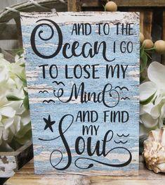 Beach Words, Beach Wood Signs, Beach Scene Painting, Whidbey Island, Beach Quotes, Cape Coral, Beach Crafts, Diy Signs, Beach House Decor