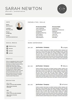 Professional Resume Template  Cover Letter For Ms Word  Cv