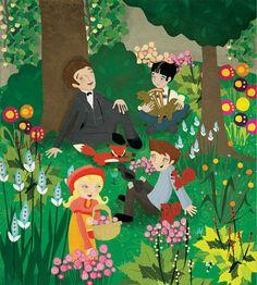 illustration for The Secret Garden, Ladybird Books