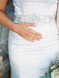 Glamorous Neutral Wedding | Glam Wedding Dress
