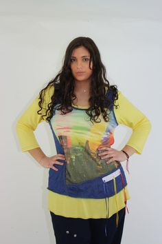 One O one Paris Urban Cotton Tunic. Made in France in sizes 16-26, ONLY $99.00 on wildcurves.com!