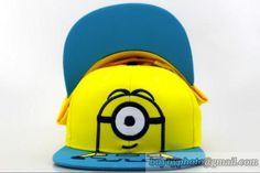 cb694324426 Minions kids Snapbacks Hats Yellow